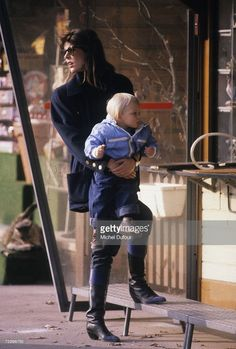 Princess Caroline of Monaco, a member of the Grimaldi family, carries her son Andrea Casiraghi, 1984 in Paris, France. Princess Caroline married Ernst August V, Prince of Hanover in 1999 and is also titled as Caroline, Princess of Hanover. She will be celebrating her 50th birthday on January 23rd.