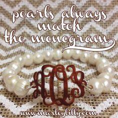 pearls always match the monogram