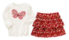 NWT Gymboree BUTTERFLY GIRL Outfit, Butterfly Tee & Floral Skort   Available in our online store at http://stores.ebay.com/starbabydesignshomestore