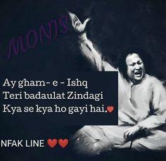 Nfak Lines, Love Sayri, Nusrat Fateh Ali Khan, We Movie, Zindagi Quotes, Deep Words, Urdu Poetry, Sad Quotes, Feelings