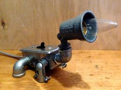 Robot (dog) Lamp by JosephBarral on Etsy
