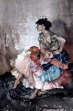 Sir William Russell Flint | Iberian Flounces? British, 1880-1969