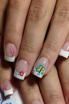 french nails lace Tips Fingernail Designs, Toe Nail Designs, Manicure E Pedicure, Pedicures, Funky Nails, Trendy Nails, Fabulous Nails, Gorgeous Nails, Spring Nails