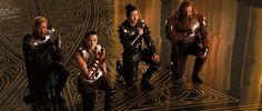 Fandral, Lady Sif, Hogun, and Volstagg