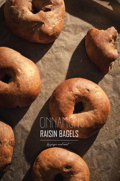 Vegan Cinnamon Raisin Bagels // Ginger and Mint Vegan Food, Vegan Recipes, Cinnamon Raisin Bagel, Bagels, Diy Design, Travelling, Diy Ideas, Mint, Cooking