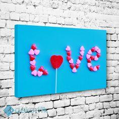 Sevgi Şekeri Tablo #tipografi_tablo #tipografik_tablo #tipografi_kanvas_tablolar