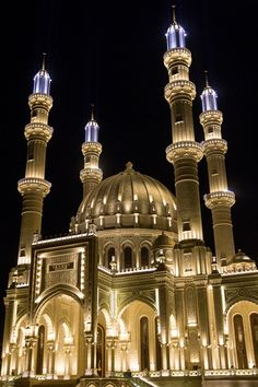 Baku - Photo Mosque lights par Alexandr Firstov on 500px
