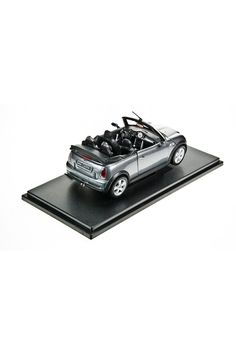 WELLY 2005 Minim Cooper S Cabrio Convertible Model Car In Charcoal - Beyond the Rack