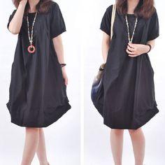 d52fc63fee0 fashion maxi T shirt solid color soft cotton short sleeve bottom large long  T shirt free ship