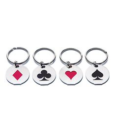 Card Suits Key Chains