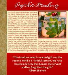 Albert Einstein, Intuition, Psychic, Psychic Reading, Spirituality, Christmas, Winter, Holly and Ivy, Ice Candle, Holidays, Quotes