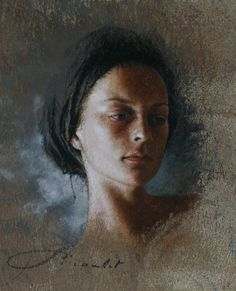portraits pastel paintings of Nathalie Picoulet -