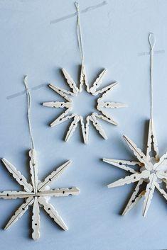 Weihnachtssterne aus Holzklammern | DIY | Stildwild - Kati make it