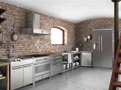 cucina in acciaio sintesi di steel