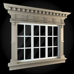 Buy Windows Collection by ThemeREX on Bundle of high quality polygonal models of windows.max Max 2010 for separate models) . Door And Window Design, Main Door Design, House Front Design, Architecture Windows, Architecture Design, Exterior Trim, Exterior Design, Fachada Colonial, House 3d Model