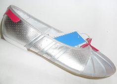 Adidas Superstar Ballerina Silver Womens Ballet Pumps Dance Shoes UK Size 5.5