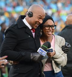 Kwena Moabelo and Minnie Dlamini during the Gauteng Football Cup final match between Kaizer Chiefs and Bloemfontein Celtic from Loftus Versfeld Stadium Kaizer Chiefs, Finals, Celtic, Football, Couple Photos, Couples, Futbol, American Football, Final Exams
