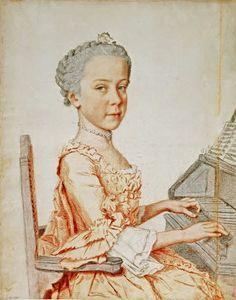 Jean-Etienne Liotard (Swiss-French artist, 1702-1789) Maria Josepha, archiduchesse d'Autriche (1751-1767) 1762. Sister of Marie Antoinette