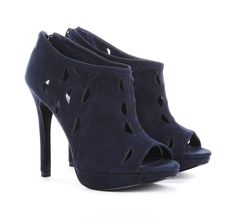Platform ankle boot with cut out detail