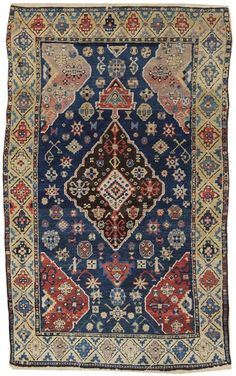 Antique Tribal and Other Small Gallery: Antique Derband Rug, Hand-knotted in Caucasus; size: 3 feet 5 inch(es) x 5 feet 7 inch(es)