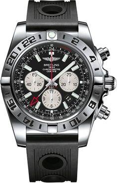 Breitling Herren-Armbanduhr Chronomat Chronograph Automatik Kautschuk AB0413B9/BD17/201S