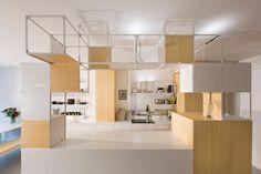 coudamy architectures: the grid apartment in paris