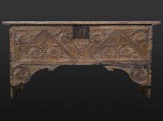 TUDOR: Early Tudor carved chest, circa 1480, Marhamchurch antiques