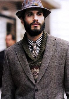 Layered Look (shirt, tie, sweater & sport coat)
