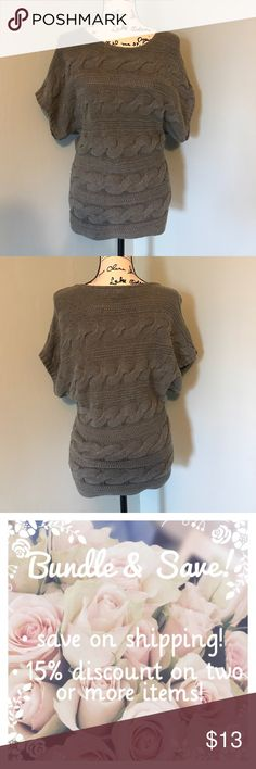 Dolman-Sleeved Sweater Top Super cute sweater top with dolman sleeves. Can be dressed up with black pants or dressed down with jeans. Comes from a smoke free home. Express Tops