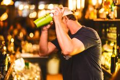 Shaking it like only a bartender can. #nightlife #drinkup #shakeit #marineroomtavern