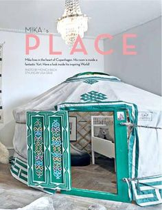 Kids room built from a small yurt! Mika's Place via Lille Nord http://lillenord.com/