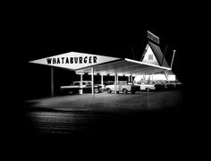 Whataburger, 1961. Don't know where this one is located. Passed by a lot of Whataburgers when I was in Texas.