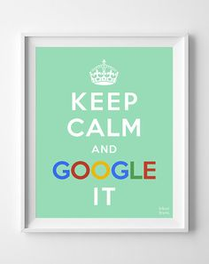 Google It, Keep Calm Print, Typography Print, Wall Art, Home Decor, Dorm Decor, Office Decor, Funny Print, Humor Quote, Halloween Decor