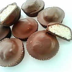 Chocolate Coconut Cups#justeatrealfood #healthyliciousfoodie