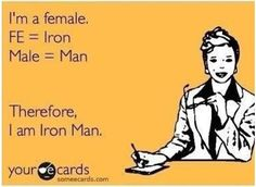 Some science humor: Iron Man Funny Quotes, Funny Memes, Someecards Funny, Science Jokes, Nerd Humor, Haha Funny, Funny Shit, Funny Pics, Funny Stuff