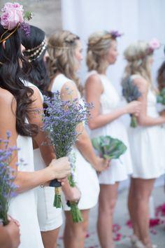 Lavender Bridesmaids Bouquets | Photography: Elizabeth McDonnell Photography - elizabethmcdonnellphotography.com | #LavenderWeddings