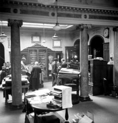 HENRY POOLE & CO: (1944) The old shop seen during the war years when Montgomery and Mountbatten would have been in for a fitting, between battles.