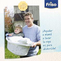 ¡Ayudar a mamá a lavar la ropa es pura diversión!
