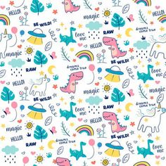 colorful doodle animals with words leaf star and galaxy combination seamless pattern vector Illustration Ligne, Illustration Mignonne, Line Illustration, Geometric Lines, Geometric Background, Background Patterns, Word Patterns, Textures Patterns, Fabric Patterns