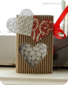 Valentine's card with tic tacs inside