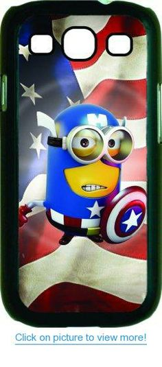 Captain America - Minion - Dispicable me Black Hard Snap on Case Cover for Samsung® i9300 Galaxy S3 S III Case - Universal - Great Affordable Gift!