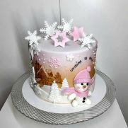 Snowman for my friend Zuzka Winter Is Comming, Love Cake, My Friend, Snowman, Cake Decorating, Birthday Cake, Winter Cakes, Desserts, Food