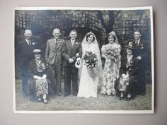 1940s Photo Vintage Photo Wedding Party Vintage Fashion by FillyGumbo