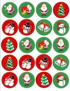 Christmas Stickers, Christmas Gift Tags, Christmas Printables, Simple Christmas, Vintage Christmas, Christmas Ornaments, Christmas Messages, Christmas Christmas, Diy Crafts To Do