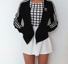 adidas black jacket. outfit