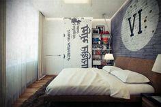 piso de soltero con cuarto moderno