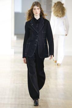 A unique suit for a unique natty gal - Lemaire Spring 2016 Ready-to-Wear Fashion Show