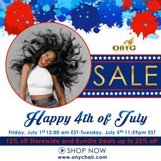 Are you ready for the 4th of July SALE?? We hope so! Go crazy on Bundle Deals and STOREWIDE Discounts! Have a good holiday weekend!!  SHOP>>> www.onychair.com  #hairsale #ONYCHair #hairstyles #blackhair #atlhair #lahair #chicagohair #hairstylists #weaves #hairextensions
