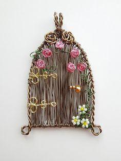 Louise Goodchild - wire wrapped pendant, fairy garden door