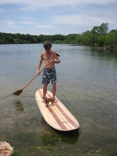 Wooden Surfboards: Hollow Wooden SUP by Troy Nixion in Texas